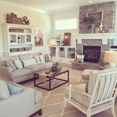 100+ Amazing Farmhouse Living Rooms Decor Ideas