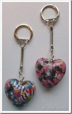 Decopatch heart Keyring