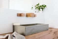 wood melbourne handcrafts timber, brass   concrete bathroom fixtures - designboom | architecture