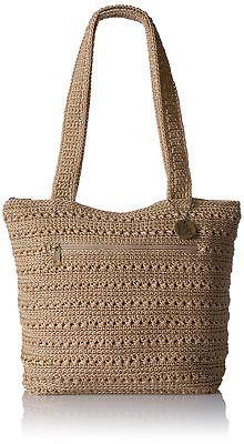 The Sak Riviera Tote, Bamboo Crochet Tote, Crochet Handbags, Hand Crochet, Silver Lake, Nylon Bag, Knitted Bags, Handmade Bags, Purses And Handbags, Ladies Handbags