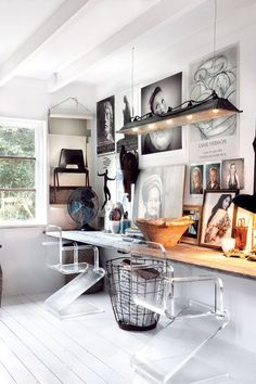 eclectic industrial workspace
