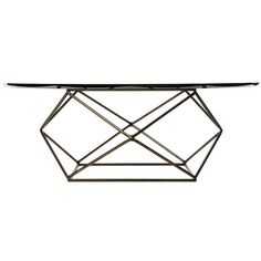 Geometric Low Table | From a unique collection of antique and modern coffee and cocktail tables at https://www.1stdibs.com/furniture/tables/coffee-tables-cocktail-tables/
