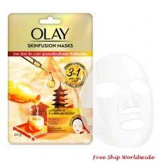 Olay Skinfusion Sake Yeast Wrinkle Relaxing Sheet Mask Japanese Sake, Olay Regenerist, Stress Causes, Dull Skin, Younger Looking Skin, Sheet Mask, Face Serum, Combination Skin