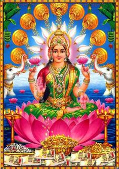 Lakshmi is the Hindu god of wealth, fortune & prosperity and also the wife of Lord Vishnu. Here is a collection of Goddess Lakshmi Images & HD wallpapers. Arte Shiva, Shiva Art, Krishna Art, Hindu Art, Lakshmi Photos, Lakshmi Images, Saraswati Goddess, Lord Shiva Family, Indian Goddess