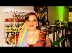 Fiesta Disco, Fiesta 70s, mesa de postres y dulces, Candy Bar Fiesta,  sweetmyruchis.blogspot.com