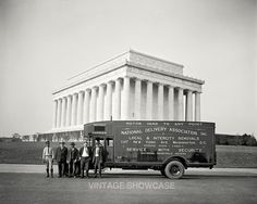 Delivery Truck in front of Washington memorial by VintageShowcase, $8.00