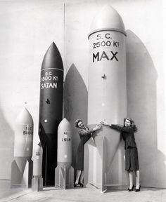 Rita Hayworth (right) loves some big rockets…