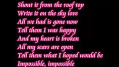 Impossible Shontelle lyrics. - YouTube