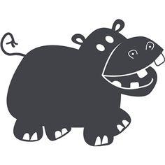 Silhouette Design Store: hippo