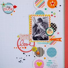 #papercraft #scrapbook #layout  Book Love by agomalley at @Studio_Calico