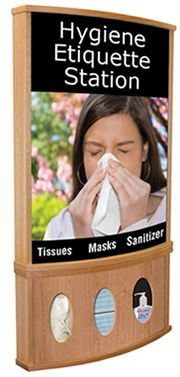 purell hand sanitizer station wall frame