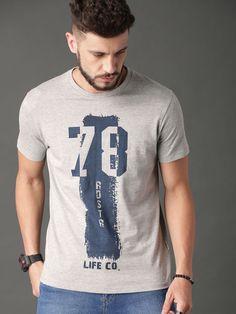 Buy Roadster Men Burgundy Brand Carrier T Shirt - Tshirts for Men 8939037 Best Mens T Shirts, Boys T Shirts, Casual T Shirts, Cool Shirts, New T Shirt Design, Shirt Print Design, Tee Shirt Designs, Graphic Shirts, Printed Shirts