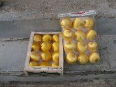 3 inch gold satin balls 24 in all strofoam by rivertownvintage