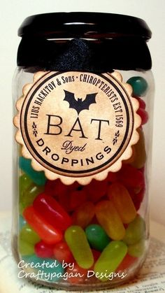 Bat droppings--just jelly beans or candies like Mike 'n' Ike, Hot Tamales, Good and Plenty, etc.