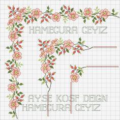 Cross Stitch Borders, Cross Stitch Rose, Cross Stitch Flowers, Cross Stitch Designs, Cross Stitching, Cross Stitch Patterns, Hand Embroidery, Machine Embroidery, Embroidery Designs