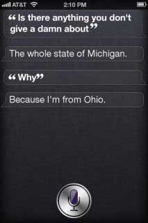 OHIO STATE BUCKEYES ! Well look Siri isn't the idiot I thought she was.....