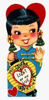 Image result for JAPANESE GIRL + VINTAGE VALENTINE CARD