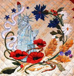 "Detail 2, ""Mi Amor"", an original Baltimore Album-style quilt by Margarete Heinisch, photo by Jennifer Gagliardi via Flickr"
