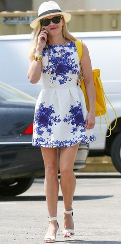 Crushing on Reese Witherspoon's floral frock?! Get the look now! Just click on the photo.