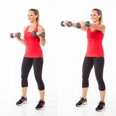 ejercicio para deltoides delanteros con mancuernas