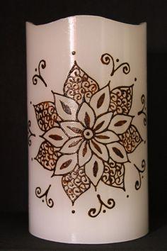 Henna candle by JSHennaCreations on Etsy