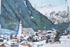 Neustift Stubai - Collage, mixed media