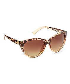 Look what I found on #zulily! Jessica Simpson Collection Tan Cheetah Cat-Eye Sunglasses by Jessica Simpson Collection #zulilyfinds