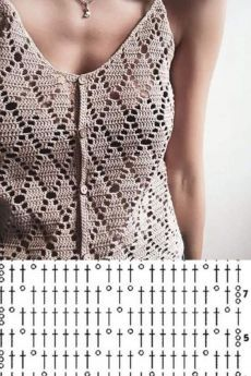 Crochet Bra, Crochet Shirt, Filet Crochet, Crochet Clothes, Crochet Shawl Diagram, Crochet Poncho Patterns, Knit Poncho, Mode Du Bikini, Crochet Summer Tops