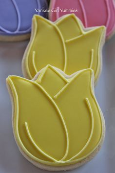 Tulip cookies - simple.  Picture only