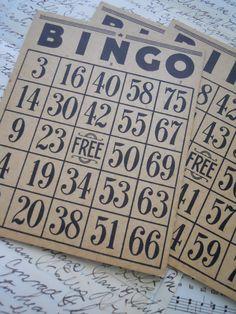 Bingo is a fun table game involving cognitive and visual perceptual skills.
