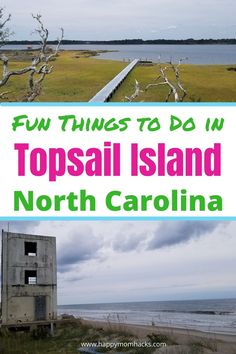 Top Guide to Topsail Island NC for Families. All the fun things to do with kids on this beautiful island near Wilmington NC. Best Restaurants to eat, Museums to visit, Turtle sanctuary, history of the Missile towers, Surf City, beaches, and more. Everything you need to know about visiting Topsail island for your family vacation. Great Vacations, Beach Vacations, Vacation Ideas, Turtle Sanctuary, North Topsail Beach, North Carolina Vacations, Best Weekend Getaways, Beach Activities, Surf City