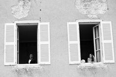 Creative window wedding photo in Burgundy, France - photo by Vinicius Matos   via junebugweddings.com