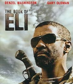 The Book of Eli (DVD)--Eli walks alone in post-apocalyptic America. He heads west along the Highway of Death on a mission he doesn't fully understand. In his backpack is the last copy of a book that could become the wellspring of a revived society. Denzel Washington is Eli, who keeps his blade sharp and his survival instincts sharper as his quest thrusts him into a savage wasteland?and into explosive conflict with a resourceful warlord set on possessing the book.