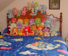 Find images and videos about cute, kawaii and bed on We Heart It - the app to get lost in what you love. Alluka Zoldyck, Rainbow Aesthetic, Care Bears, Plushies, Room Inspiration, Childhood Memories, Room Decor, Retro, Cool Stuff