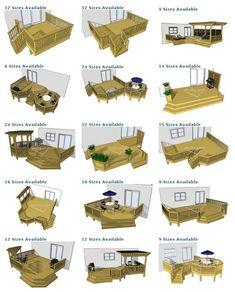 Image detail for -deck plan pictures are courtesy of decks.com. To purchase deck plans ... #deckdesigns #deckbuildingplans #deckplans