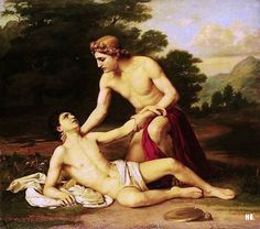 Alexander Kisseliov - The death of Hyacinth. Tags: apollo, apollon hyacinth, hyacinthus, hyakinthos,