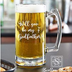 Personalized Godfather Gift, Beer Mug, Beer Glass Elegant Will You Be My Godfather Gift, Baptis Best Dad Gifts, Grandpa Gifts, Fathers Day Gifts, Godparent Gifts, Baptism Gifts, Godfather Gifts, The Godfather, Gifts For Brother, Gifts For Husband