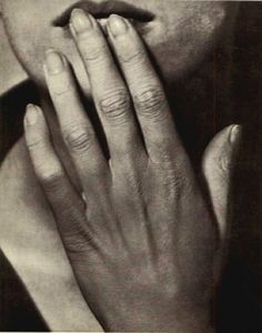 Lee Miller - Hand on Lips 1929. Photographed by Man Ray