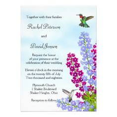 This DealsHummingbirds in Garden Flowers Wedding Invitationyou will get best price offer lowest prices or diccount coupone