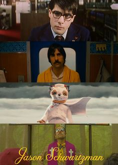 Jason Schwartzman and some of his movies with Wes Anderson (Top to bottom: Rushmore, The Darjeeling Limited, Fantastic Mr. Movie Theater, Movie Tv, 7 Arts, Wes Anderson Movies, The Royal Tenenbaums, Moonrise Kingdom, Sofia Coppola, Film Stills, Movies Showing