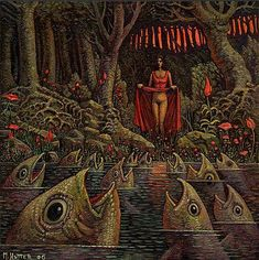 Michael Hutter is a German painter, a visual artist in the classical meaning of the word. Art Bizarre, Weird Art, Weird And Wonderful, Fantastic Art, Awesome, Amazing, Barbie Y Ken, Ero Guro, Weird World