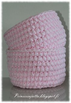Crochet Bowl, Knit Crochet, Crochet Hats, Korit, Basket, Baby, Deco, Knitting, Crocheting