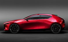 Download wallpapers Mazda 3, 2019, hatchback, concept, new car, side view, 4k, Mazda Kai