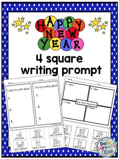 New Years Resolution writing prompt Try 4 square graphic organizer to increase writing for struggling writers. Use pictures to help organize and structure writing