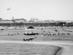 Luneta during the American time - photo circa 1900sAn early 1900s photo of Luneta (now Rizal Park) after the American arrived in Manila. The US Stars and Stripes can be seen on the upper left of the photo.