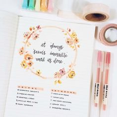 Bullet journal art and bujo spread inspiration Doodle Bullet Journal, Planner Bullet Journal, Bullet Journal Goals Page, Bullet Journal Spread, Bullet Journal Inspo, My Journal, Journal Pages, Bullet Journals, Bullet Journal Birthday Tracker
