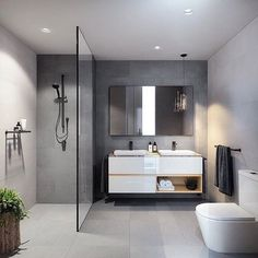 Gorgeous grey bathroom inspo by @bharchitects & @jackmerlodesign via @immyandindi . . . . . . . #inspostyle #inspodesign #inspodaily #instadesign #instadaily #instastyle #bathroom #bathroomdesign #bathroominspo #bathroominterior #interiors #interiorstyling #interiordesign #inspo #thestylishdesigns