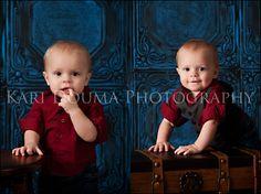 Boy Twins by Kari Douma Photography tiles from www.decorativeceilintiles.net