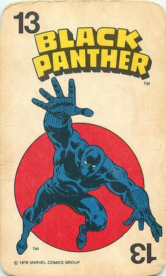 Vintage 1978 Marvel Comics Group - Superheroes Card Game - Black Panther