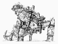 Shadow of the Colossus - Colossus Concept Art - Shunpei Suzuki